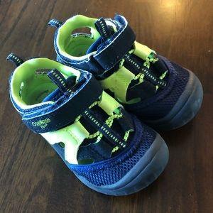 OshKosh Blue/YellowBoys Sandals Size 7